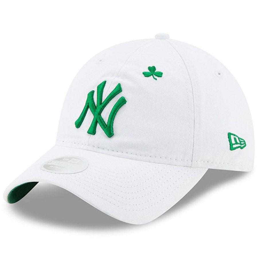 0c4db808d Women's New York Yankees New Era White 2019 St. Patrick's Day 9TWENTY  Adjustable Hat, Your Price: $23.99