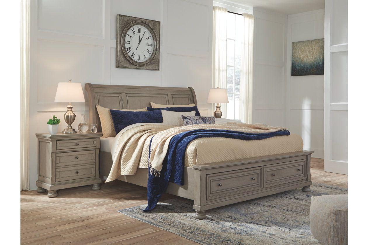 Best Lettner Queen Sleigh Bed Ashley Furniture Homestore 400 x 300