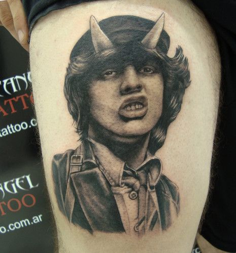 Angus Young Ac Dc Arcangelstudio Angus Young Badass Tattoos
