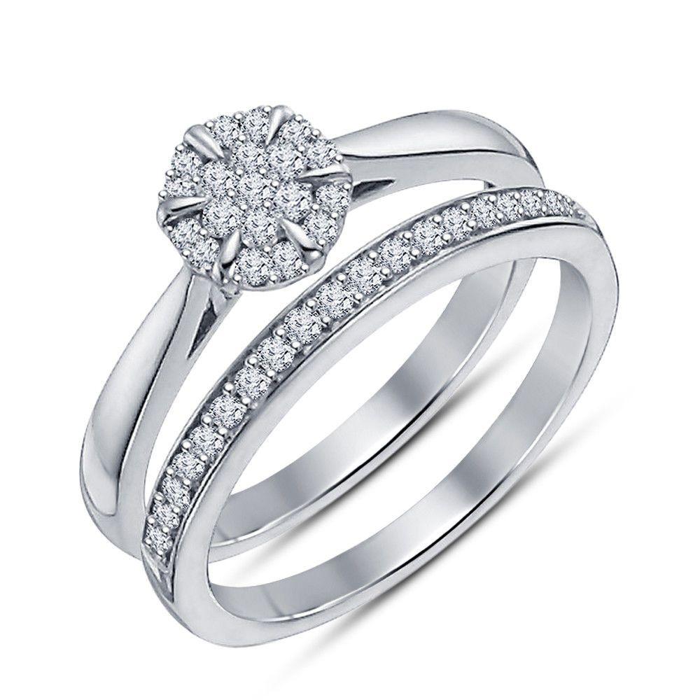 1.80 Ct Round Diamond Wedding Bridal Set Engagement Ring