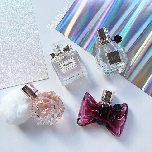 Fave perfumes!  #Ari #ariarianagrande #bonbon #flatlay #ebrxo #dior #bloomingbouquet #flowerbomb #viktorandrolf #beautyaccount #instabeauty