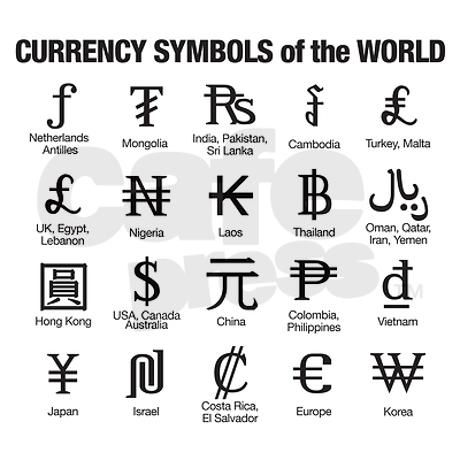 World Currency Symbol And Names Choice Image Symbol Text Art