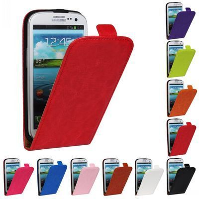 Retro Luxury Mobile Phone Bags Cases Crazy Horse Flip Cover PU Leather Case  For Saung Galaxy S3 i9300 i9308