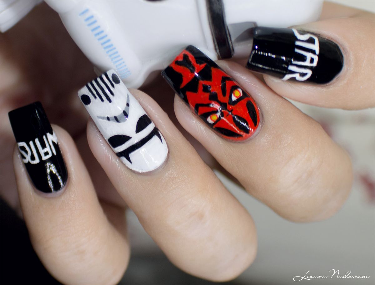 Star Wars / May the Fourth be with you - Nailstorming [Nail Art] • - Star Wars / May The Fourth Be With You - Nailstorming [Nail Art