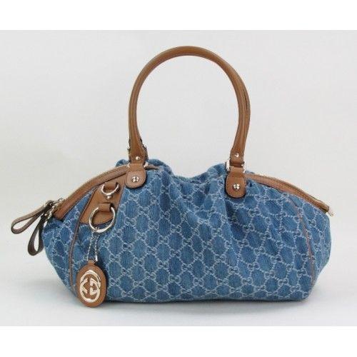 d8d3a4c8a Gucci Denim GG Medium Sukey Boston Satchel Bag #MoshPosh Bolsas, Bolsos De  Gucci,