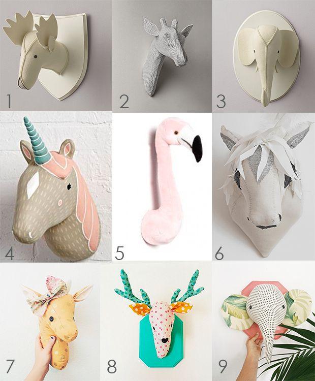 Trofeos de animales para decorar el dormitorio infantil trofeosdepeluche decoraci ninfantil - Trofeos de peluche ...
