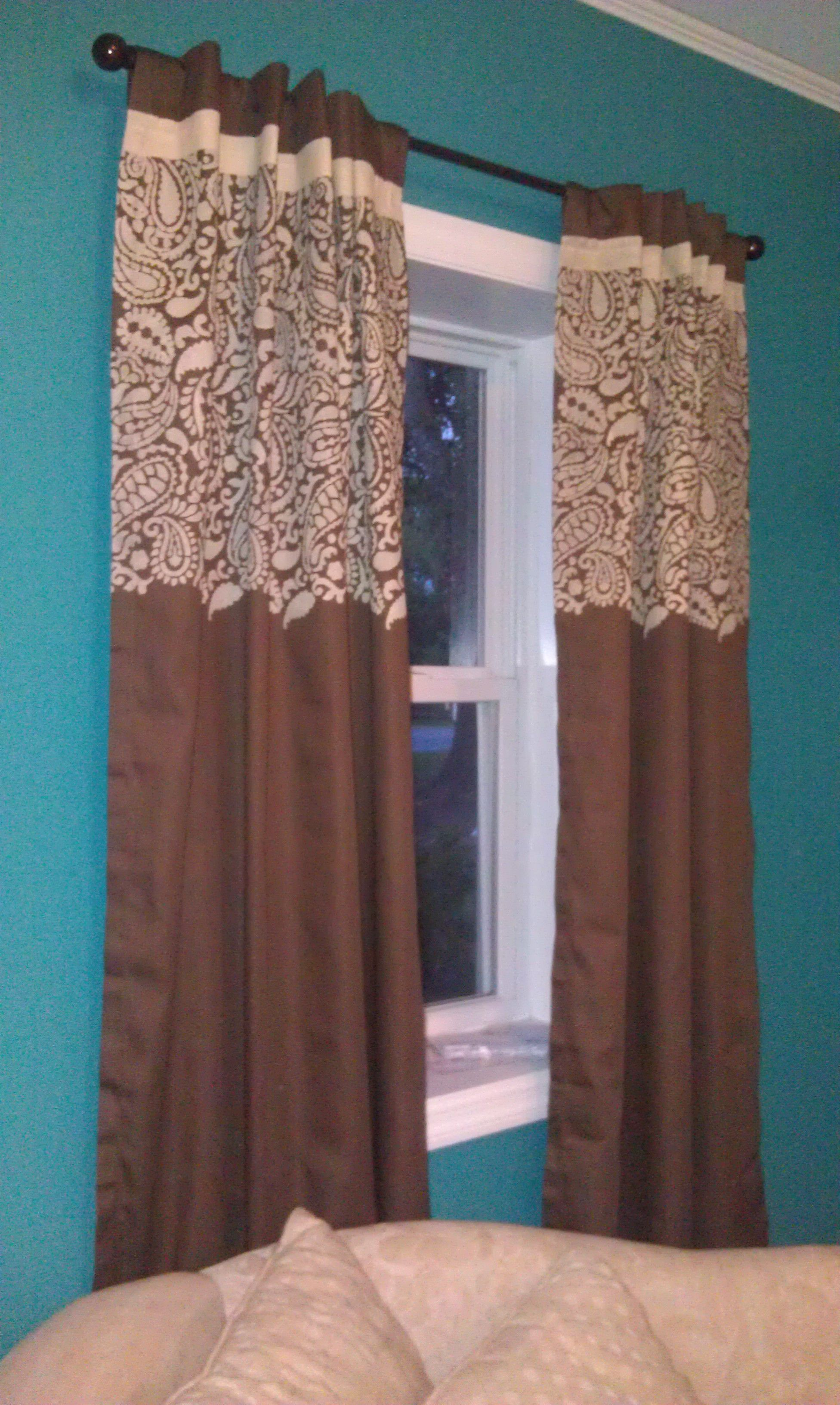 Kitchen nook window treatments  painted curtains  things i have tried  pinterest  painted
