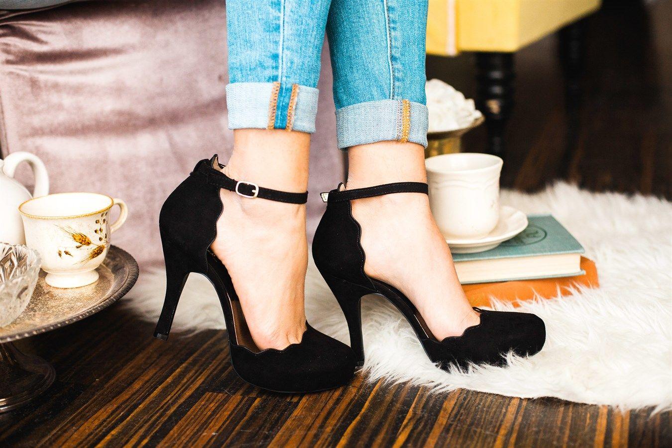 Scalloped 3 Inch Heels 3 Colors Heels 3 Inch Heels Prom Heels