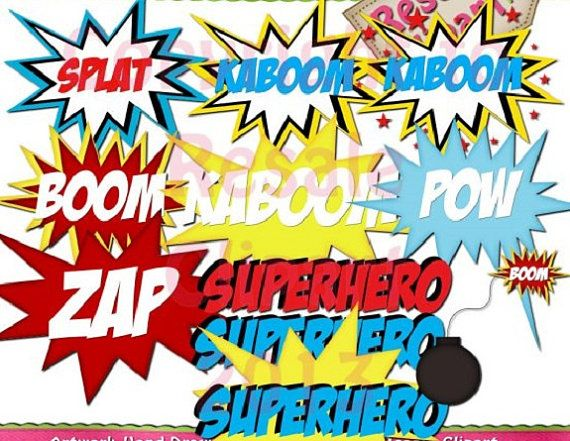 digital scrapbooking clipart superhero word art word art rh pinterest com