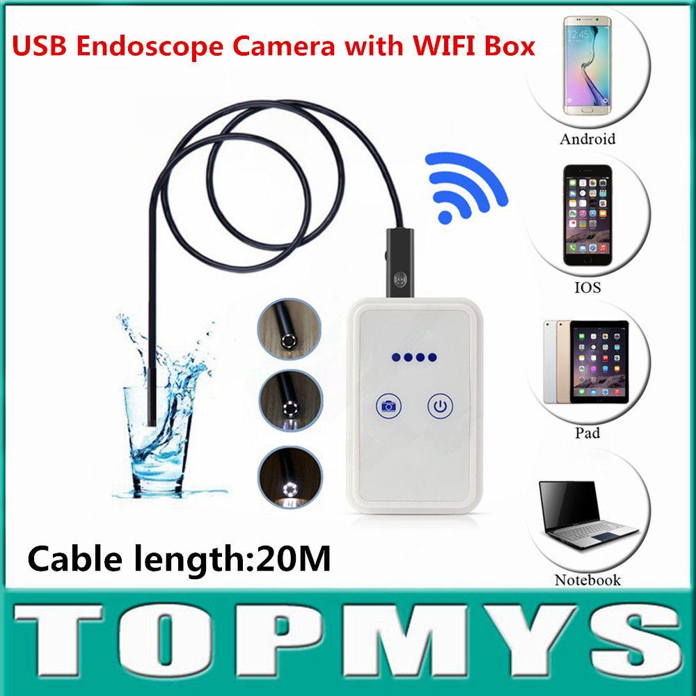 Cable 20M 9mm Lens USB endoscope mini camera with WIFI Box TM-WE9 Android IOS iphone endoscope camera wifi pinhole camera Price: PKR 6970.97415 | Pakistan