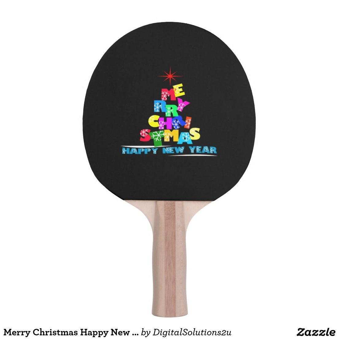 Christmas Sports Background.Merry Christmas Happy New Year Ping Pong Paddle Sport