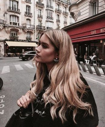Medium shoulder length blonde hairstyle idea cute hairstyle streetstyle #ha ... - Welcome to Blog