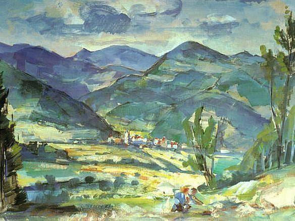 Art Cubism Friedrich Ludwig Mountain Landscape Cubism Art