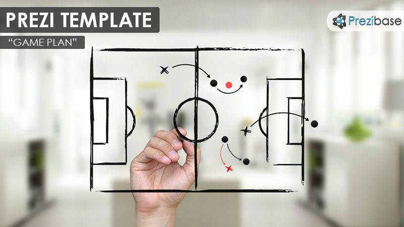 Prezi Template With A StrategyGame Plan Concept A Hand Drawing A