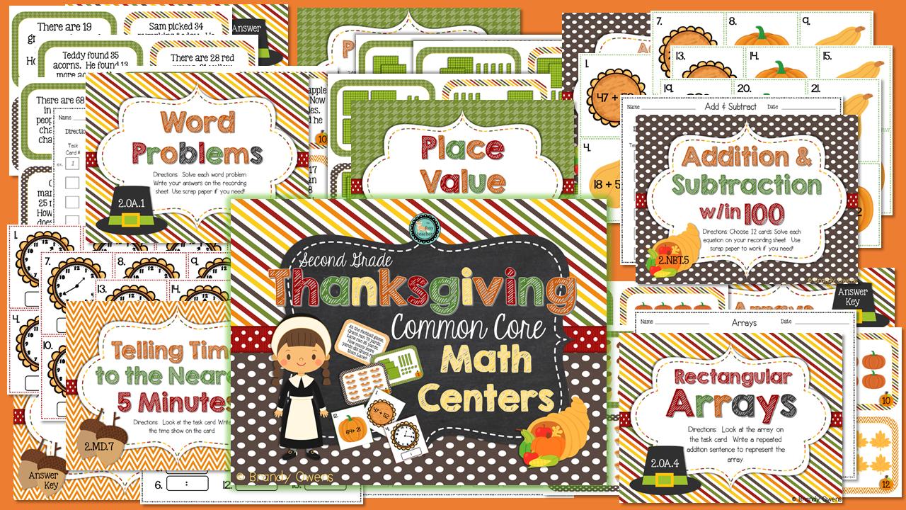 Thanksgiving common core math centers second grade expanded thanksgiving common core math centers second grade falaconquin