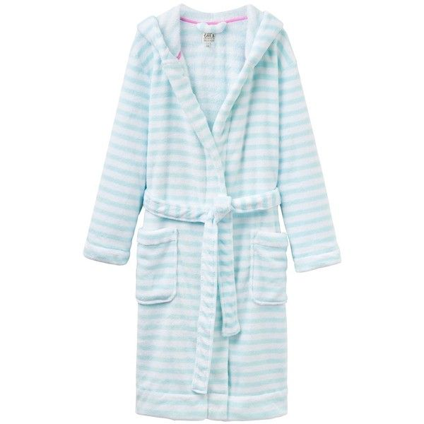 Joules Rita Dressing Gown, Aqua Stripe ($49) ❤ liked on Polyvore ...