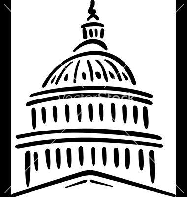 United States Of America Capitol Building Vector By Chen 108 Capitol Building Building Painting Envelope Art