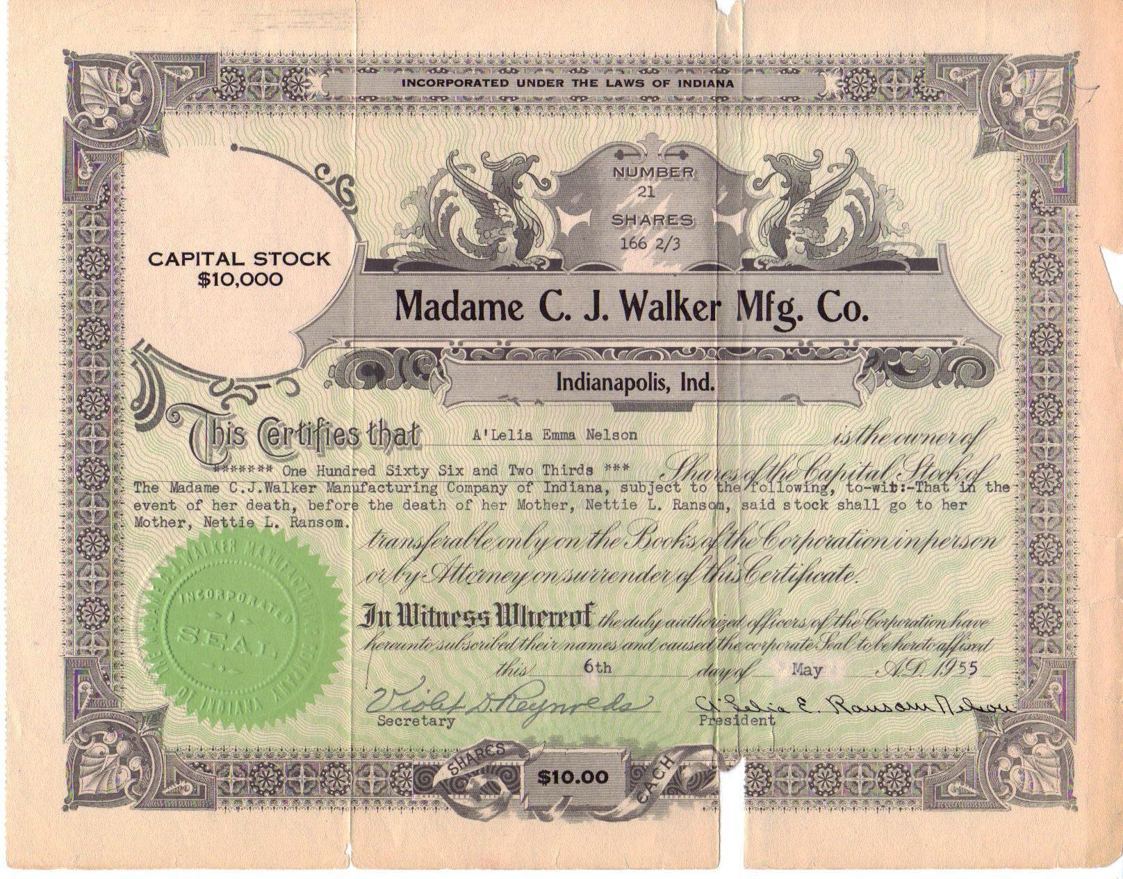 Madame C J Walker History History Black History Madam Cj Walker
