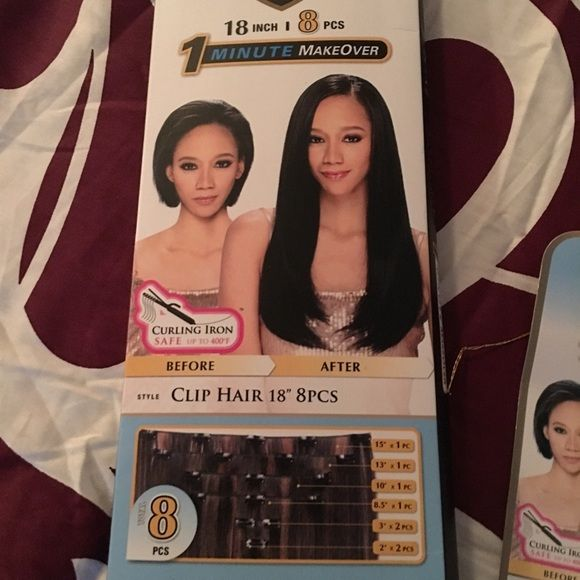 Clip In Hair Extensions Freetress Equal 8 Piece Clip In Hair