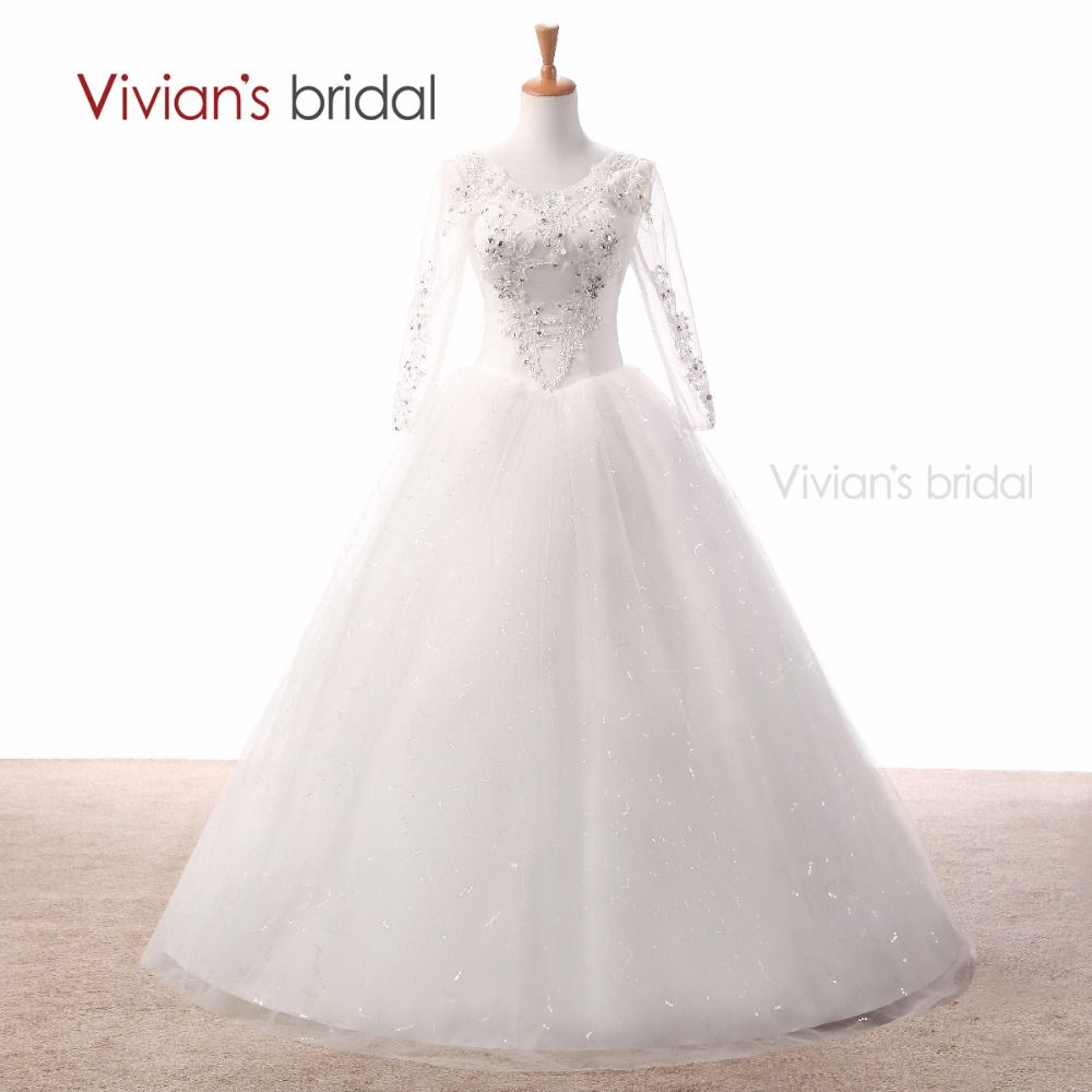 Click to buy ucuc vivianus bridal white wedding dress ball gown