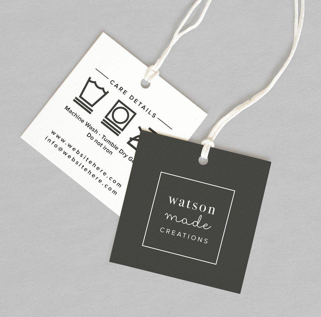 Clothing Hang Tag Template Luxury Custom Clothing Labels Custom Clothing Tags Clothing Tags