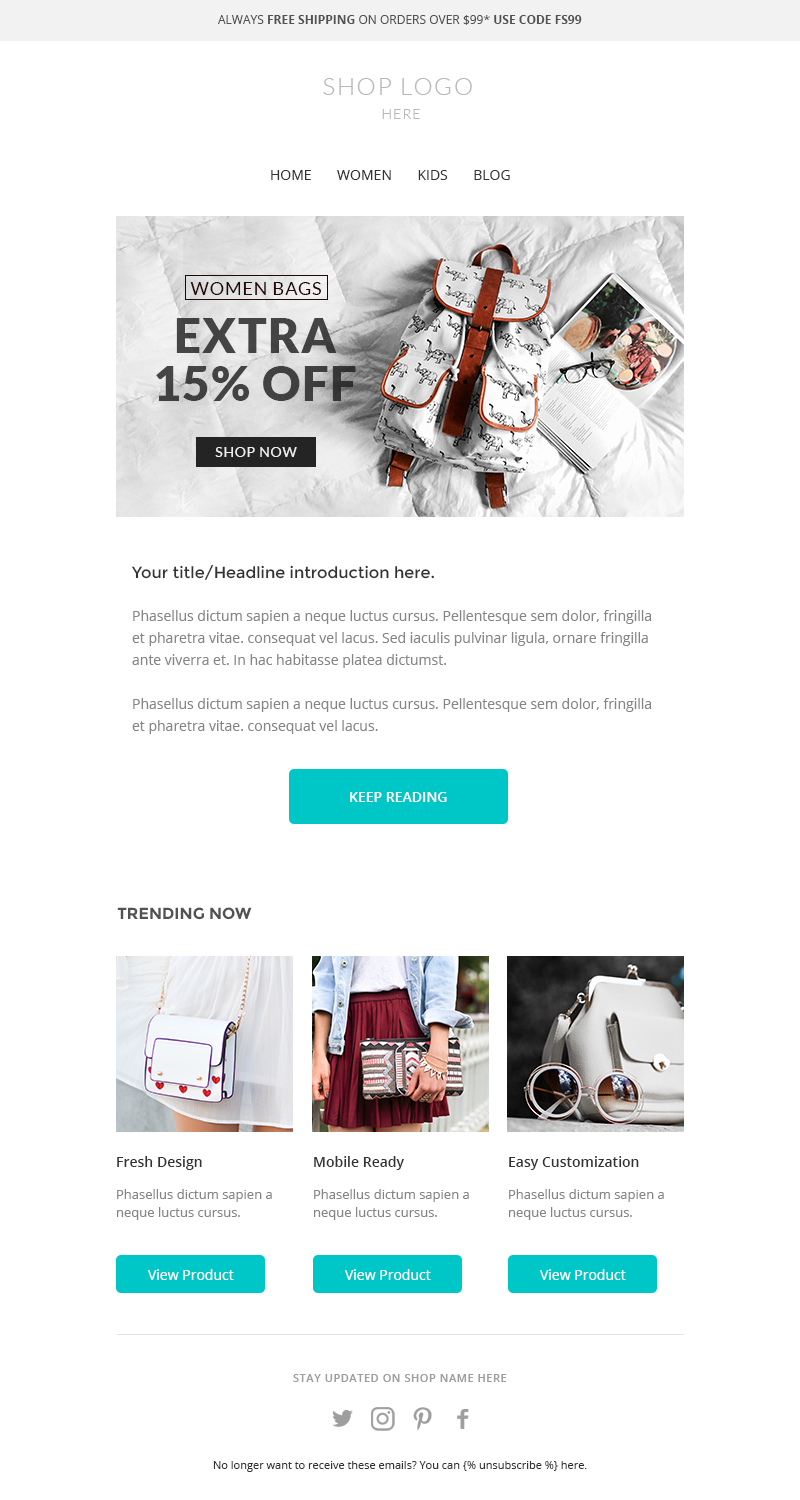 Mailchimp Newsletter Template Responsive Enhancement Email Template - Mailchimp email templates download
