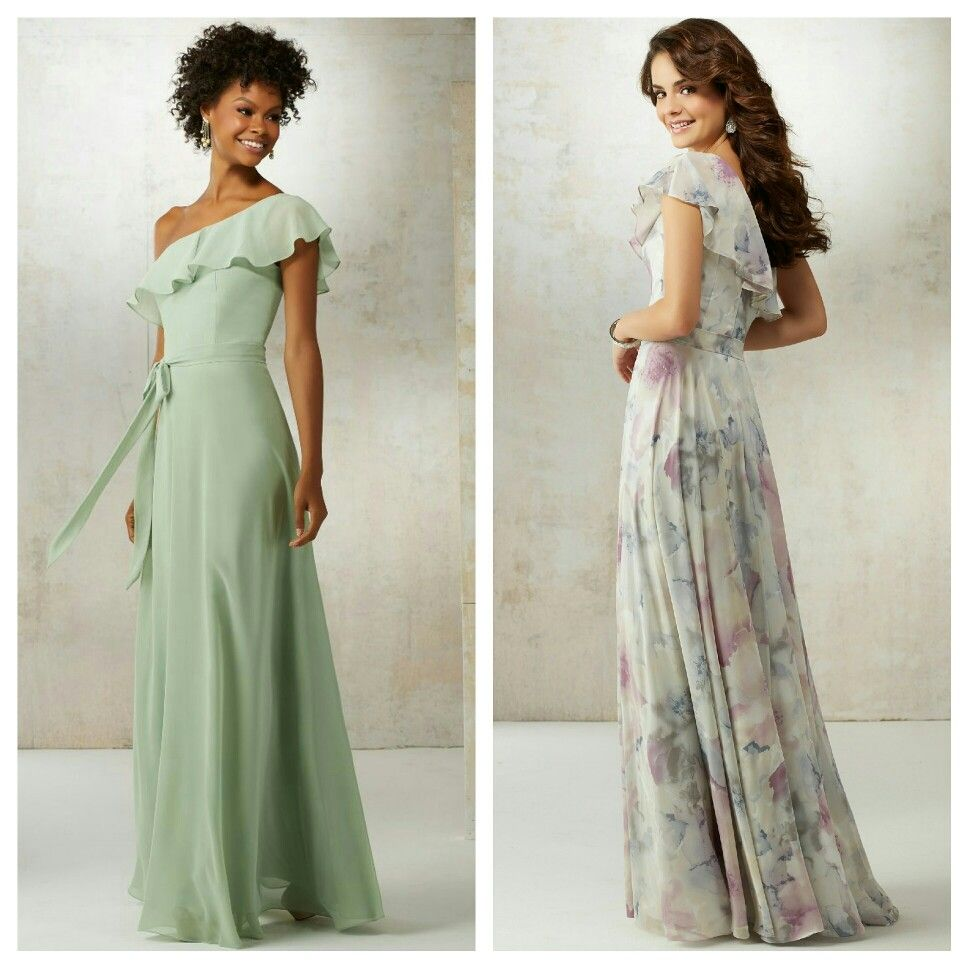 Mori lee bridesmaids available in solid colors and