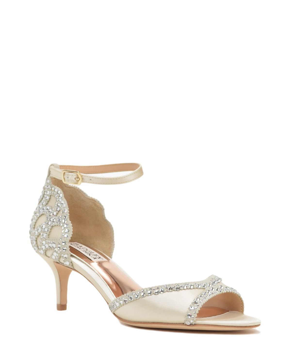 Badgley Mischka Gillian Ankle Strap Evening Shoe Now Available At The Official Website Free