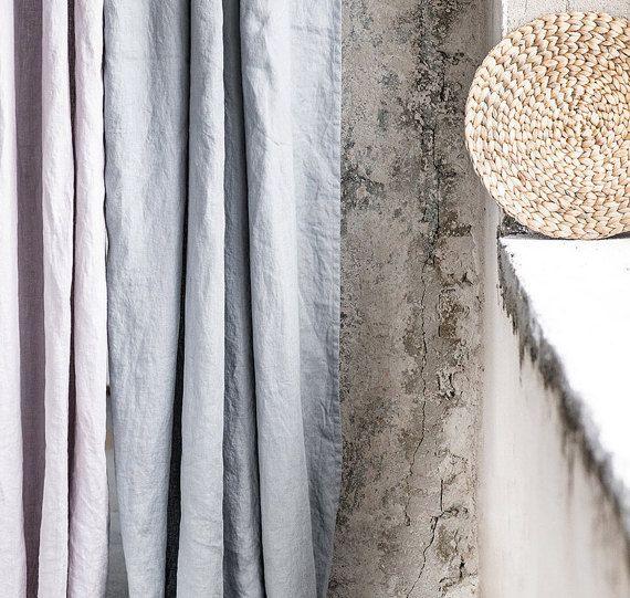 light elephant grey washed linen curtains linen drapes in light elephant grey gardinen. Black Bedroom Furniture Sets. Home Design Ideas