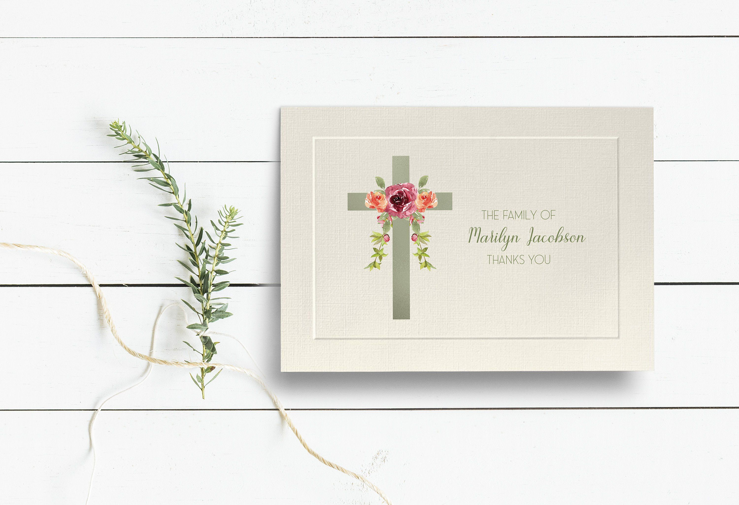 Custom Thank You Card Thank You Family of Stationery Letter Writing Stationary From the Family of Stationary Thank You Condolence Card