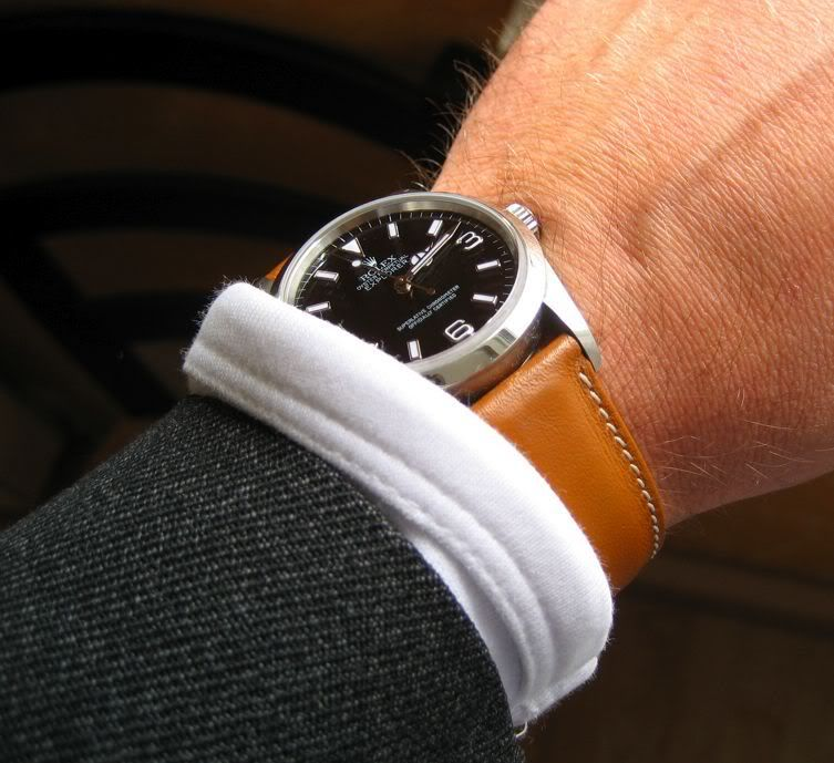 Explorer with leather strap? , Rolex Forums , Rolex Watch