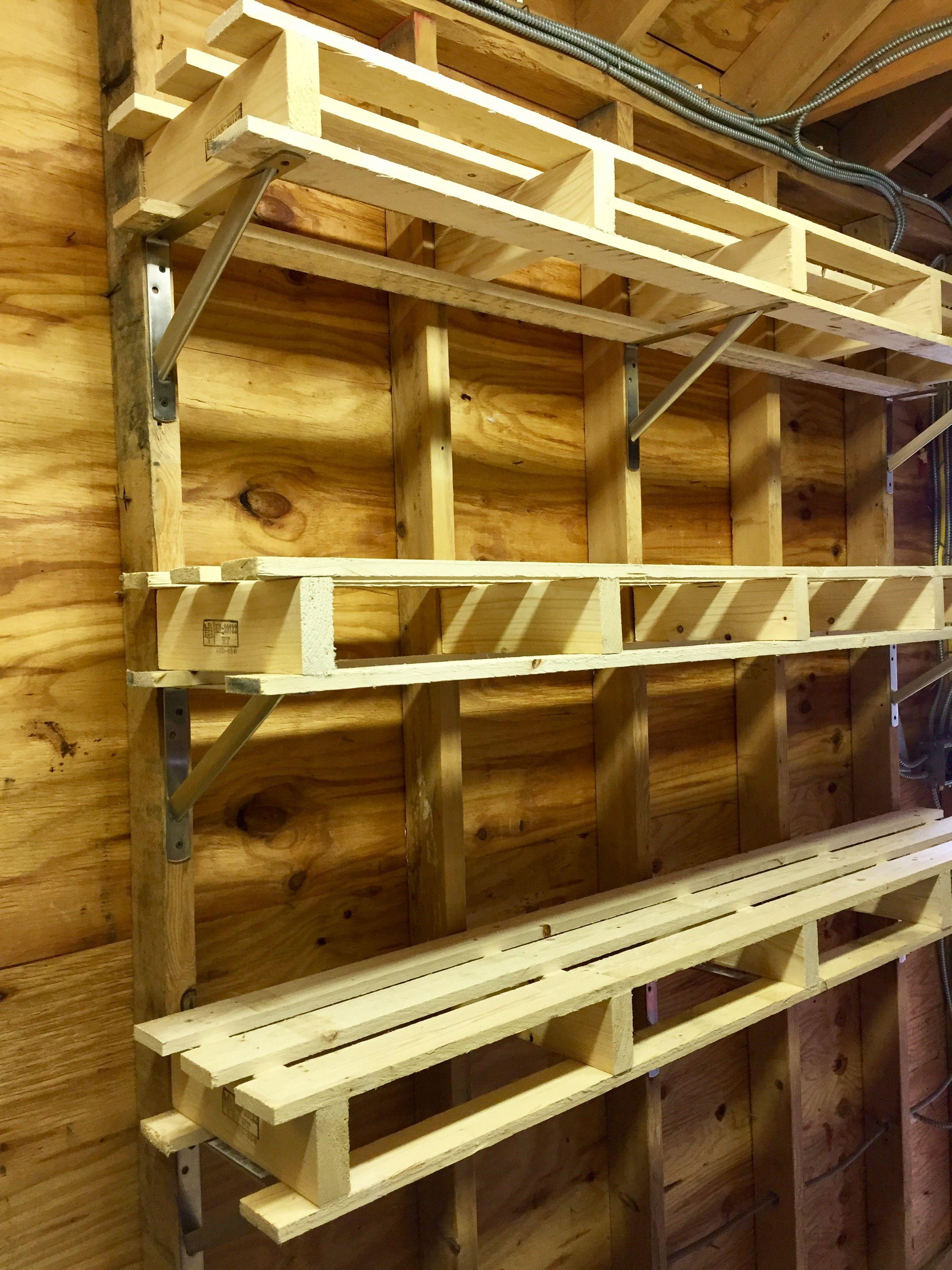 Pin by Joe DiNardo on DIY | Garage shelving, Wood shelves ...
