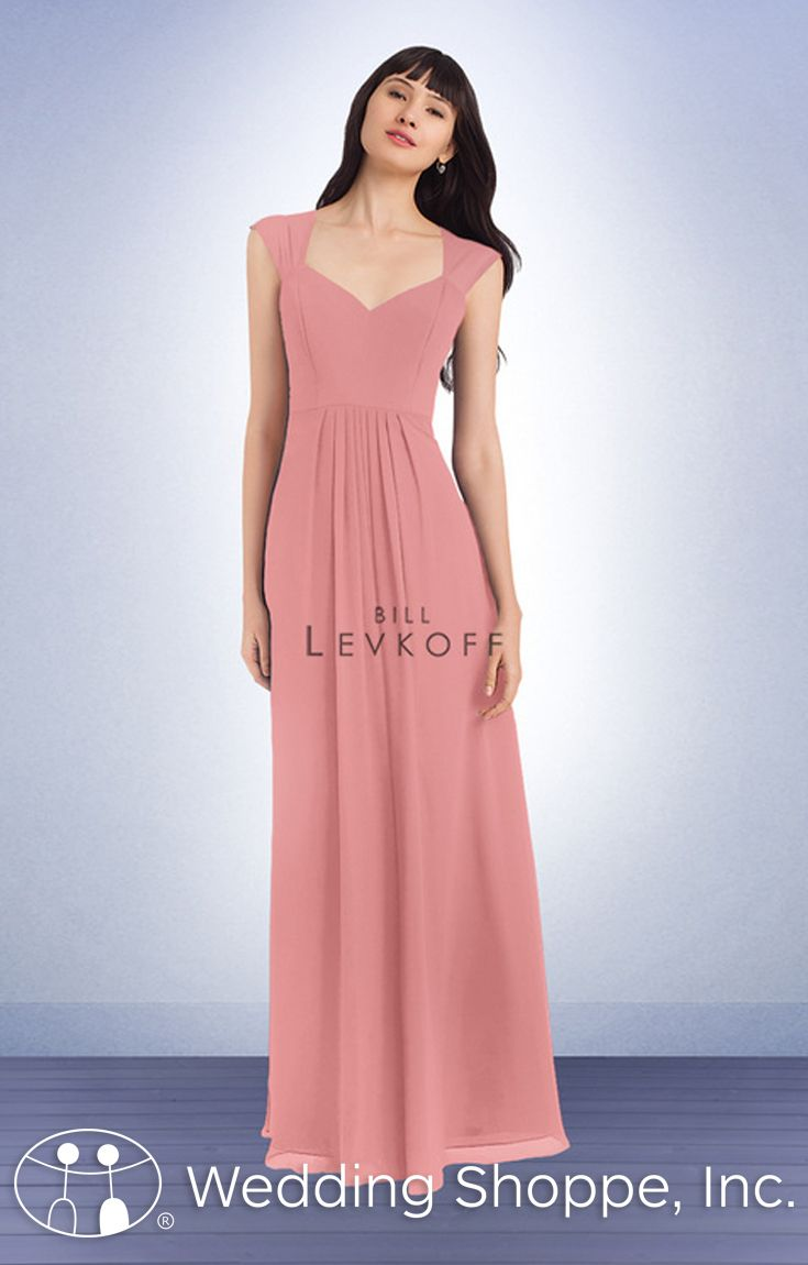 A classic long chiffon bridesmaid dress with cap sleeves member a classic long chiffon bridesmaid dress with cap sleeves ombrellifo Image collections