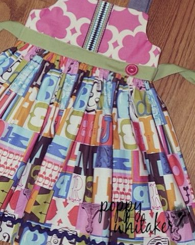Back to school dress, girl's dress,