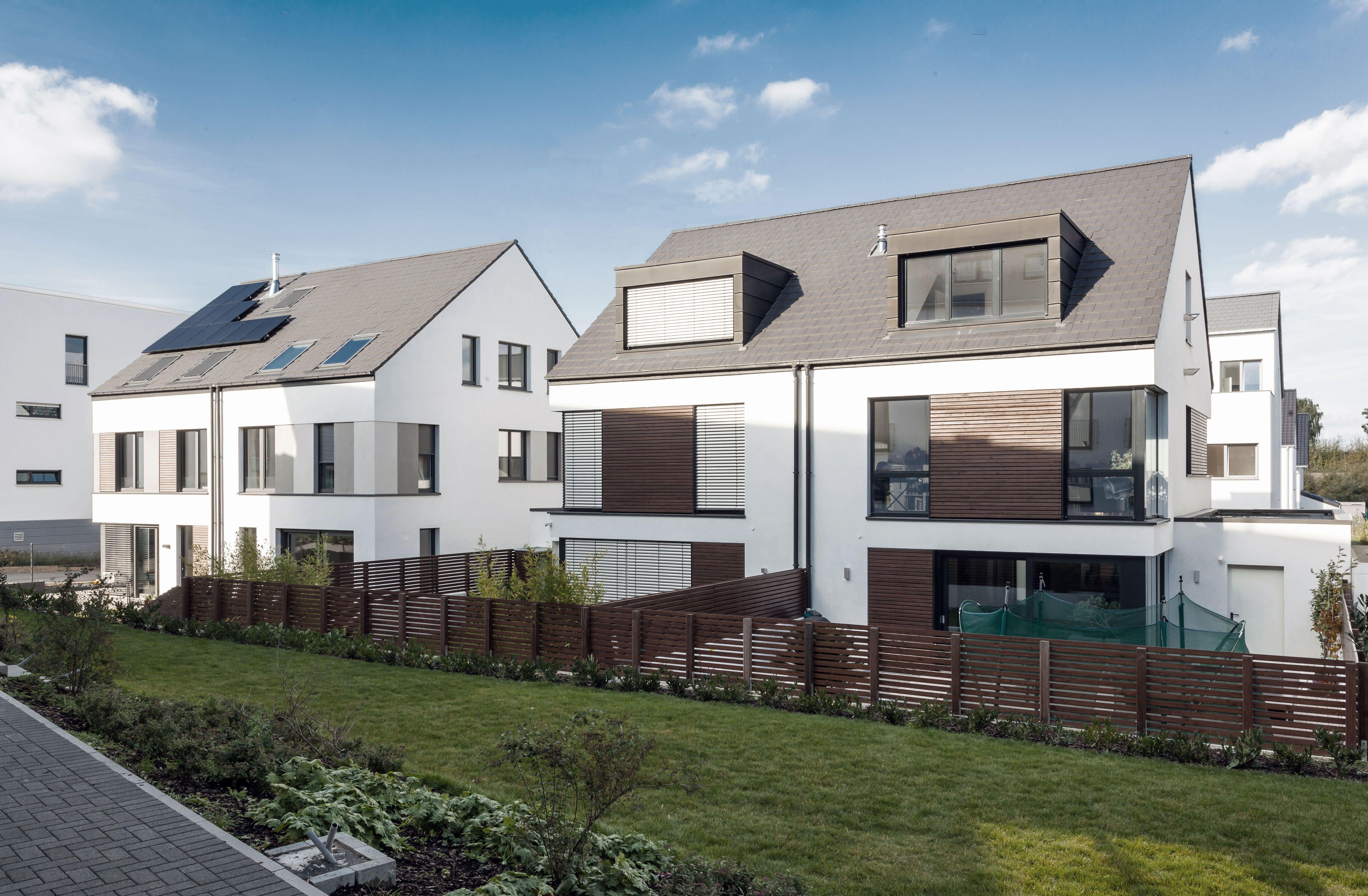 Gewaltig Moderne Einfamilienhäuser Ideen Von Einfamilienhäuser Aachen: Ensemble Aus Zwei Doppelhäusern Mit