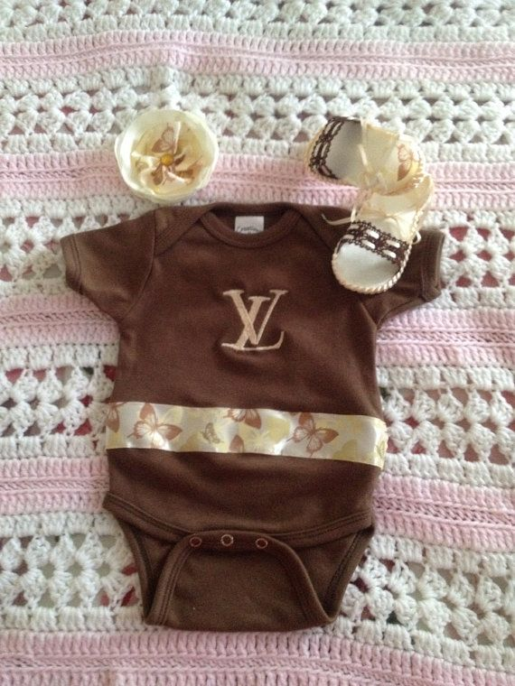 8ff8ea8a93d1 Louis Vuitton Onesie Set on Etsy