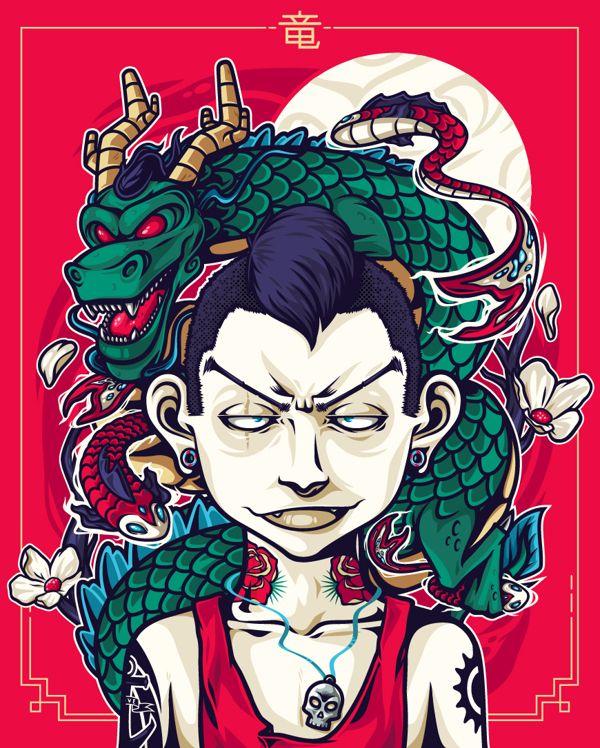 Dragon kid by Mateo M. Úsuga, via Behance