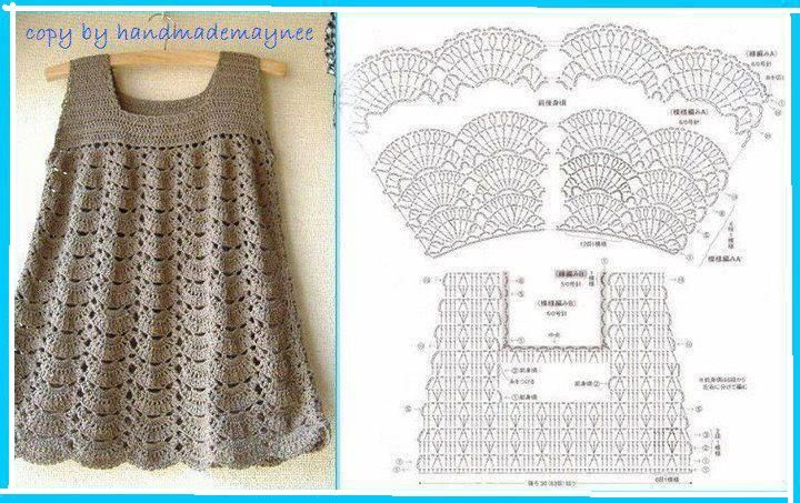 Patrones De Vestidos Tejidos A Crochet Para Niña Crochet