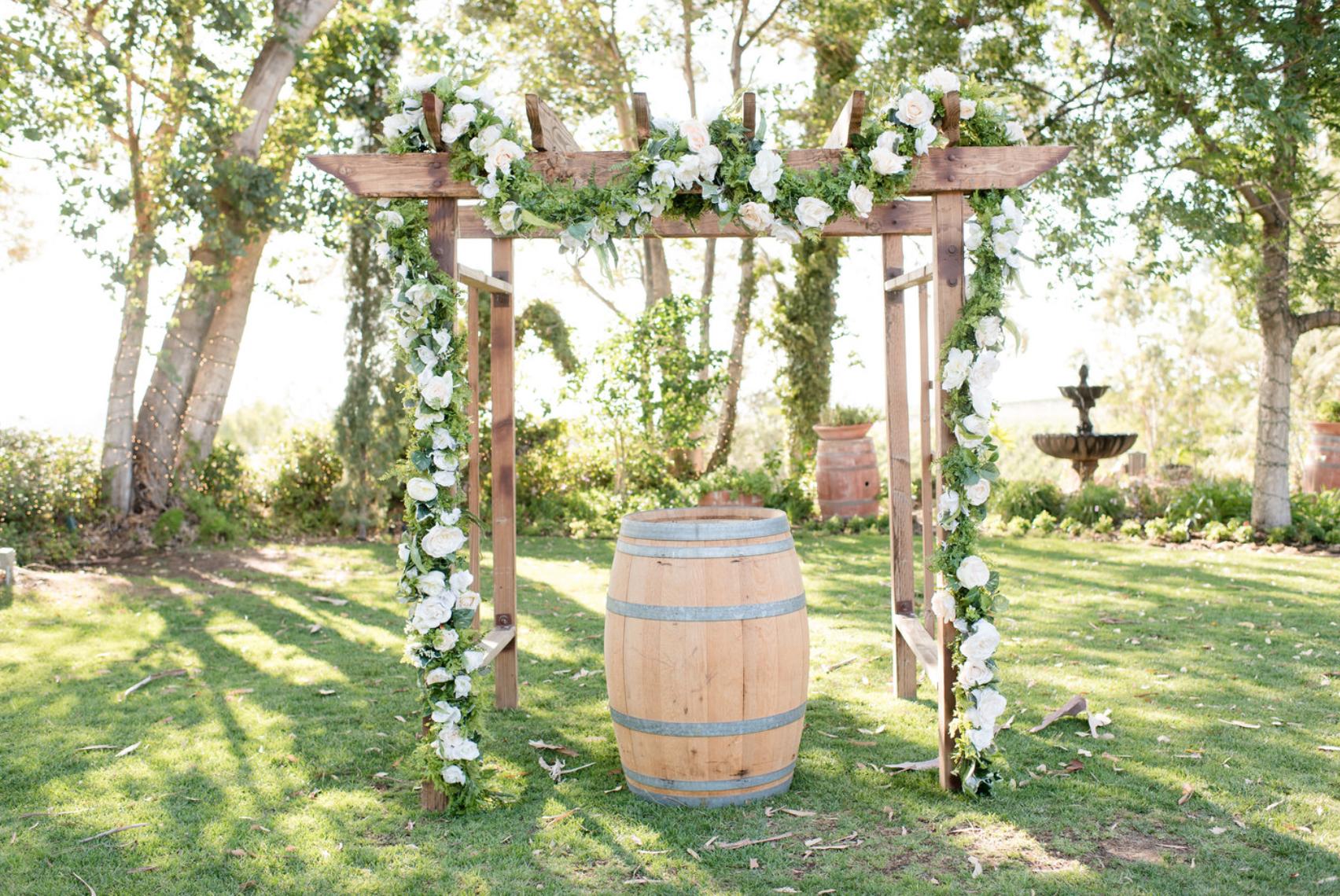 Falkner Winery Wedding Temecula Wine Country Garden Arbor