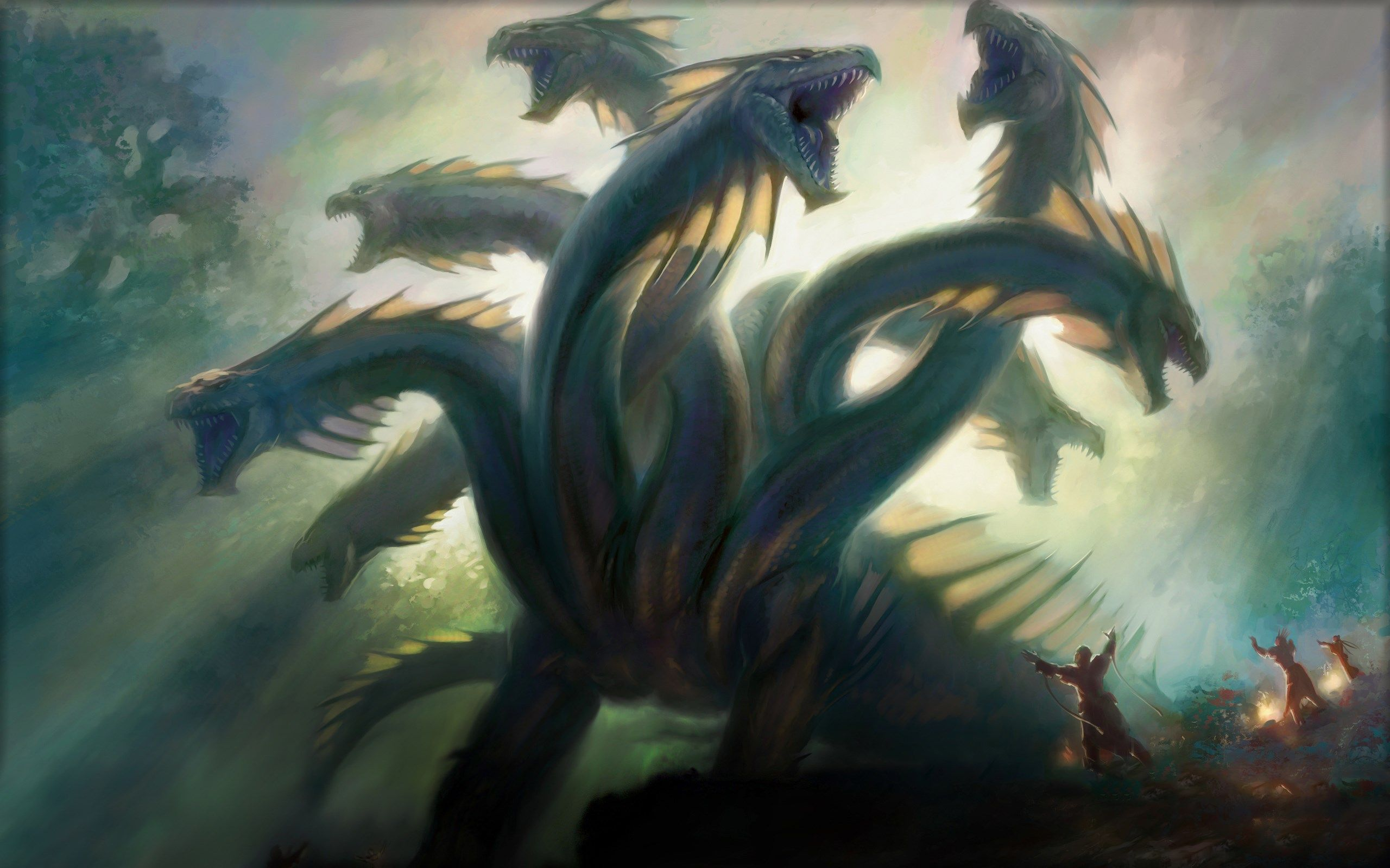 Walton Waite Wallpapers Free Magic The Gathering 2560x1600 Px Mythological Creatures Fantasy Artist Hydra Mythology