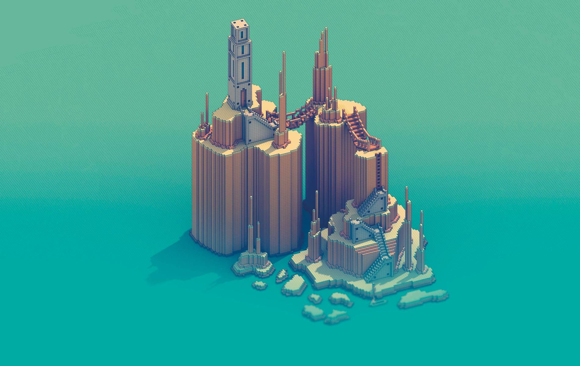 welcome to the modern video game art voxel art of sir carma vie magazine the modern minimalist issue julyaugust 2016 block by block story by
