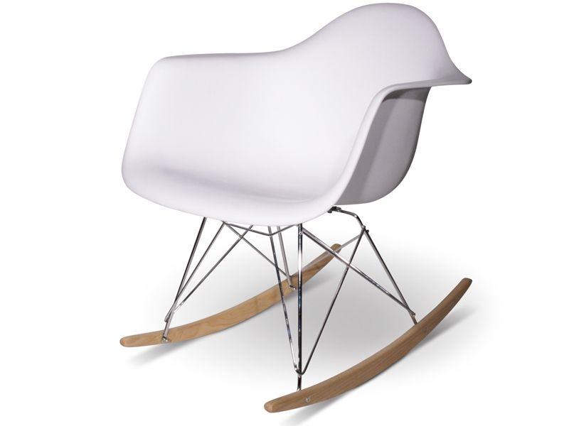Vitra Sedia A Dondolo Eames Plastic Armchair Rar : Eames rocking chair rar blanc modern