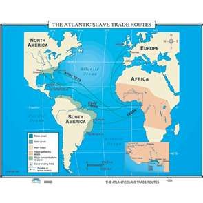 The Atlantic Slave Trade Routes Map 006