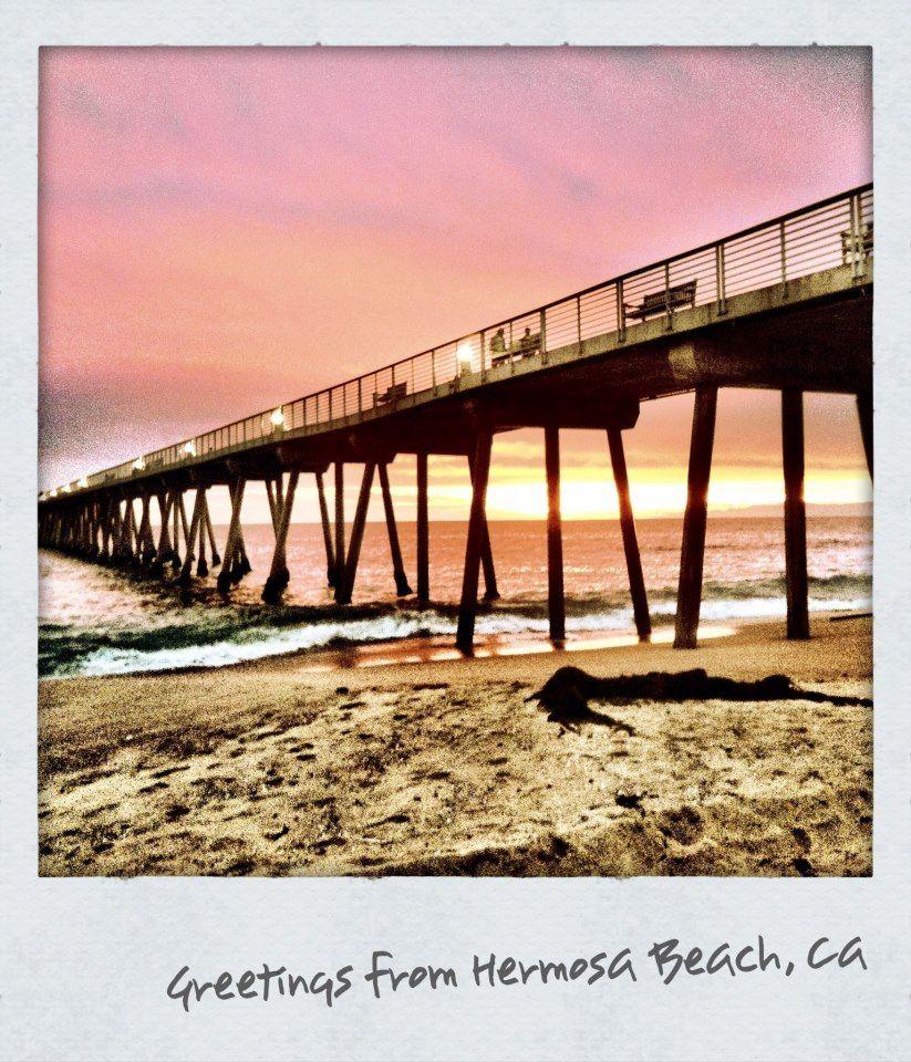Hermosa Beach California Pier at sunset Hermosa