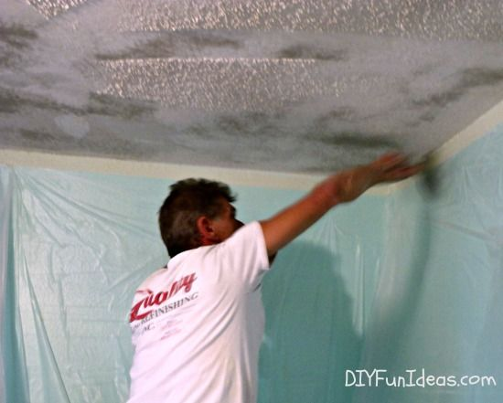 How To Remove Popcorn Ceilings In 30 Minutes Removing Popcorn Ceiling Popcorn Ceiling Cleaning Hacks