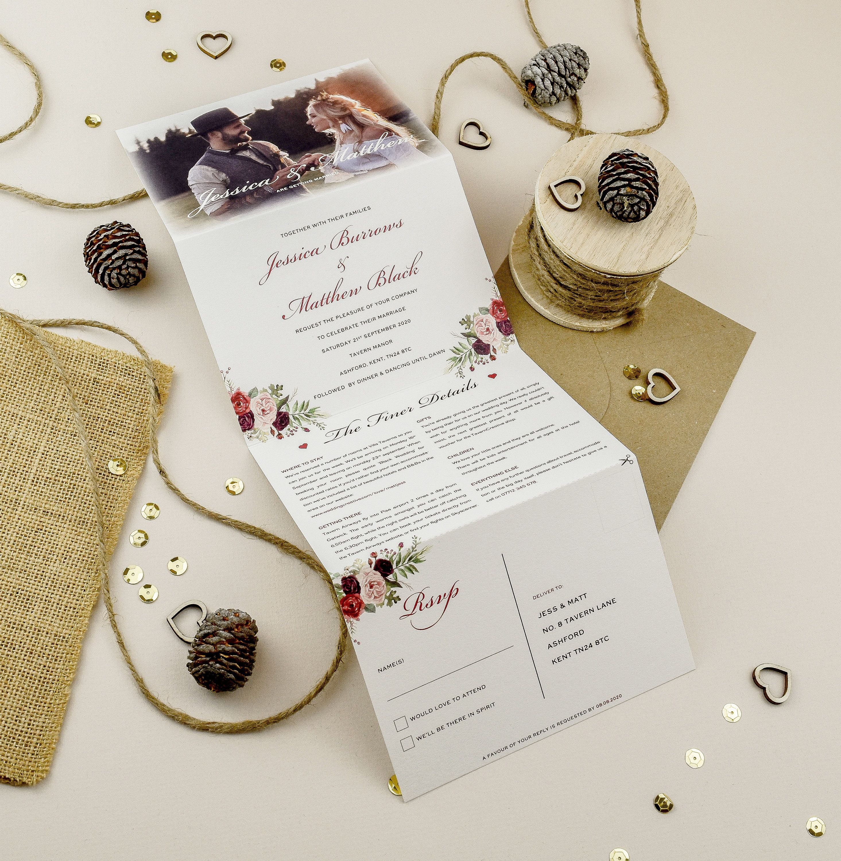 Wedding Invitation Concertina Wedding Invite Wedding | Etsy | Folded  wedding invitation, Wedding invitations, Simple wedding invitations
