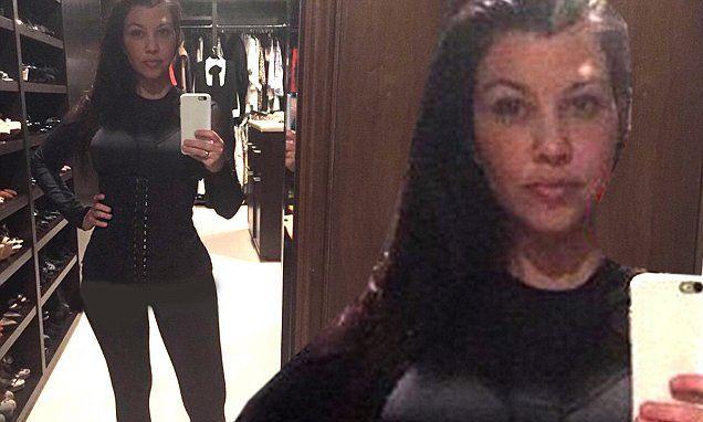 Kourtney Kardashian joins the waist-training brigade