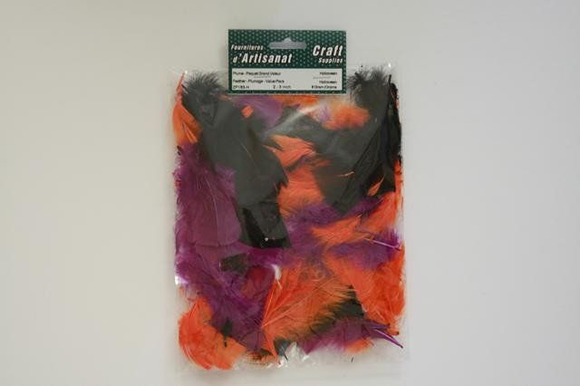 ZP183-H Feather Plumage 2-3 inch 8 Grams Halloween