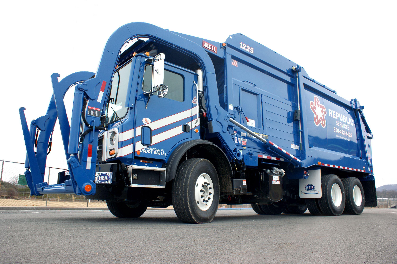 Republic services heil half pack front loader recyclingtrucks