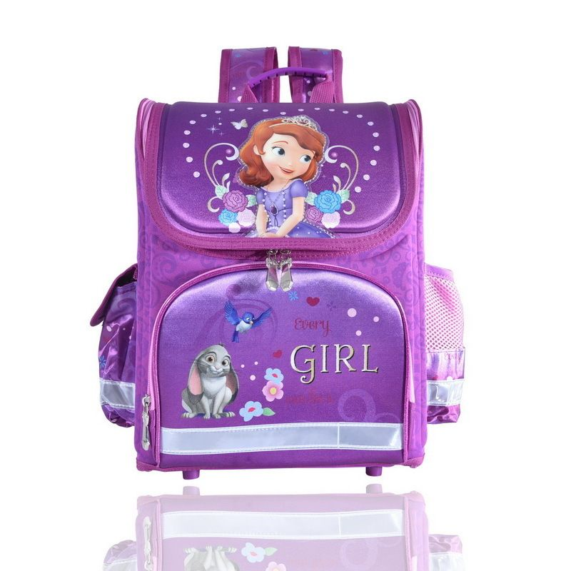 Evey Purple Princess Orthopedic Children School Bags for Girls 215a0376335bb